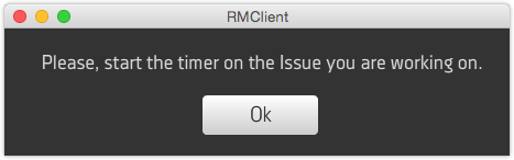 RMClient - Remind me to start the timer